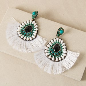 Elaborate Jewelled Fringe Stud Earring