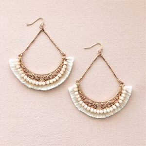 Filigree Chain Drop Jewelled Earrings