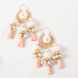 Pearl and Tassel Dream Catcher Earring