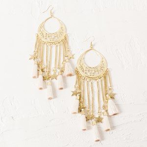Starbright Fringe and Chain Drop Earring