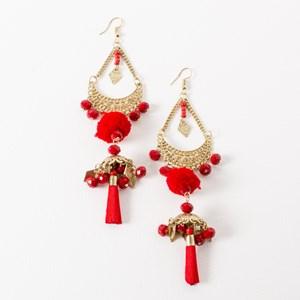 Bollywood Tiered Tassel Earring