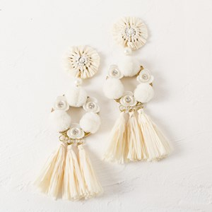 Statement Blossom Tassel Earring