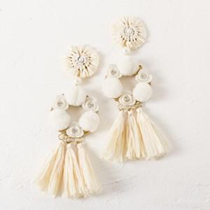 Statement Blossom Tassel Earring