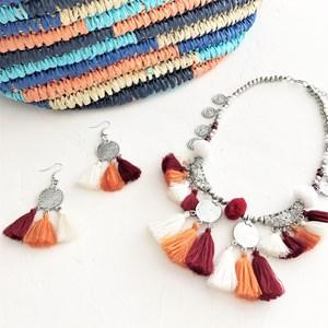 Coin & Tassels Zanzibar Hook Earrings