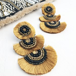 Carmen Three Layered Fan Earrings