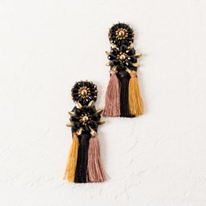Arabella Jewelled Tassel Earrings