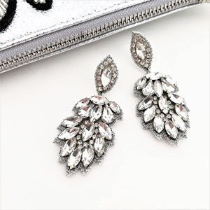 Jewelled Almond Cluster Earring