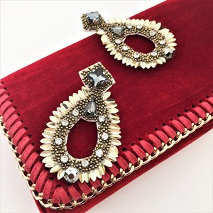 Goddess Metal Petals Almond Earrings
