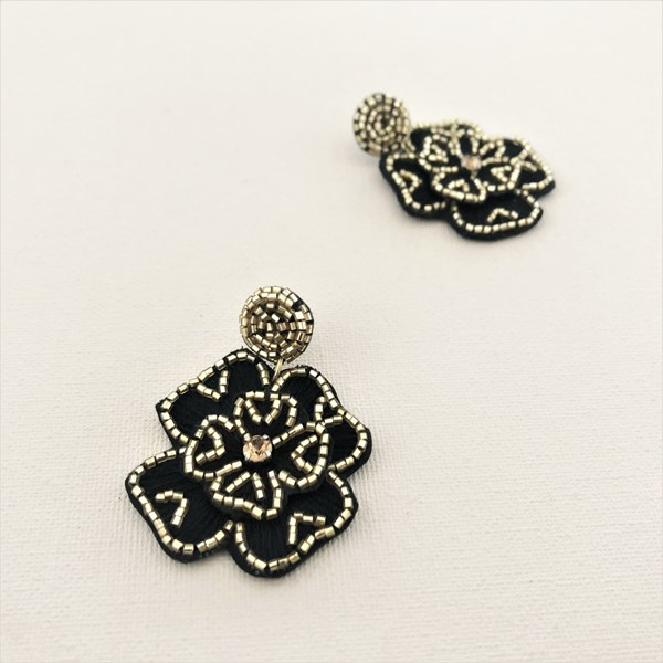 Frankie Fabric Floral Earrings