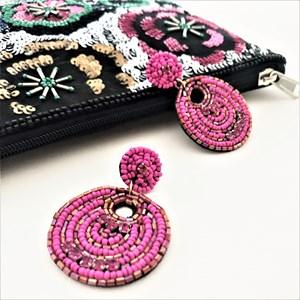 Pasadena Bead Circles Earrings