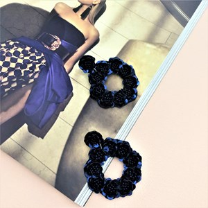 Rosy Sequin Ring Earrings