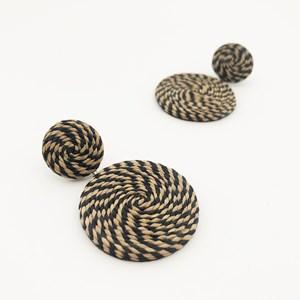 Contrast Spiral Weave Earrings
