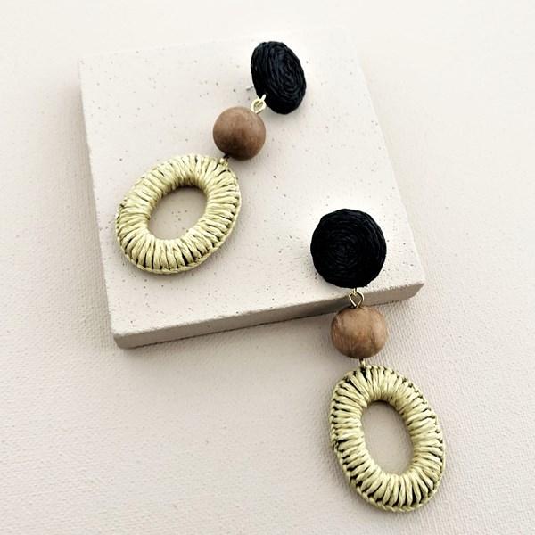 Woven Ring Drop Earrings