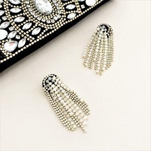 Bead Chain Waterfall Earrings