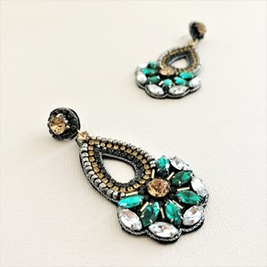 Serena Beaded Jewel Statement Earrings