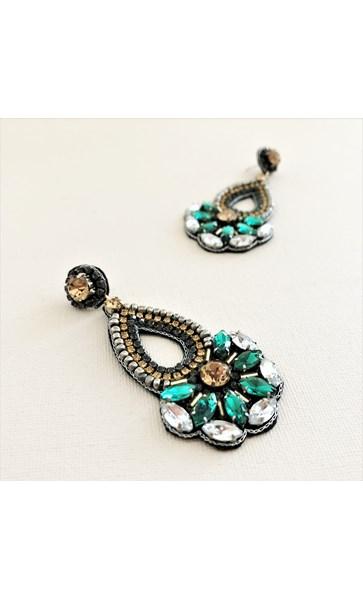 Serena Beaded Jewel Statement Earrings