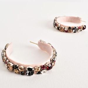Jewelled Lila Hoop Earrings