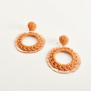 Crochet Fringe Layered Earrings
