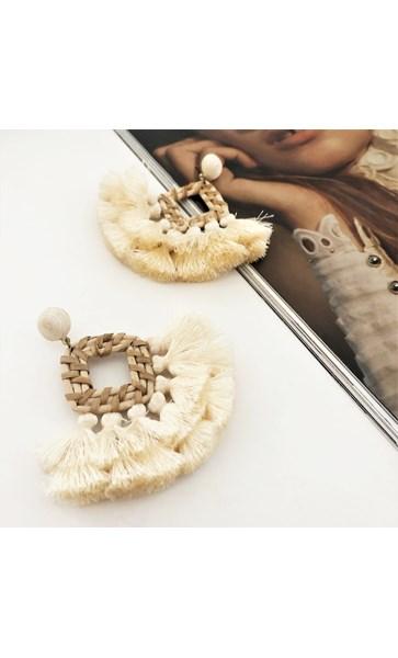 Double tassel Weave Earrings