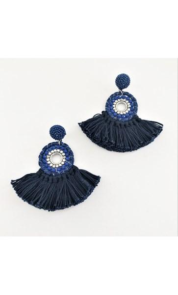 Beaded Boho Fringe Earrings