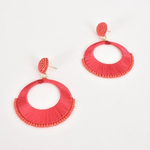 Cotton Wrapped Ring Front Earrings