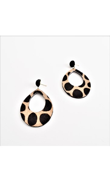 Woven Top Hide Cut Out Earrings