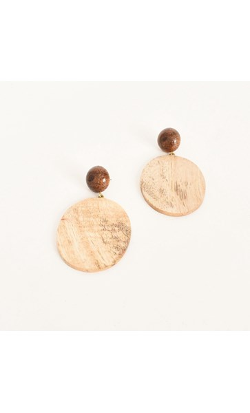 Timber Disc Drop Earring