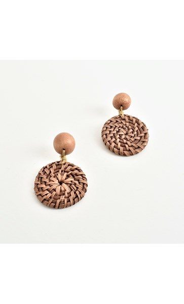Rattan Weave Drop Earrings