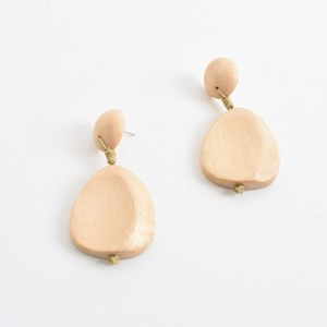 Pod Drop Timber Earrings