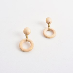 Looped Rings Button Top Earrings