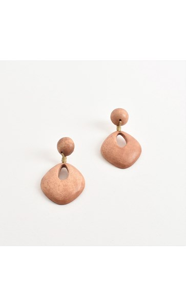 Cut Out Timber Earrings