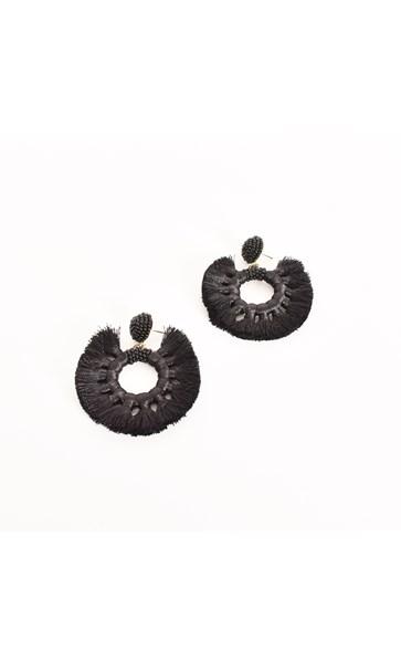 Ella Beaded Fringe Ring Earrings