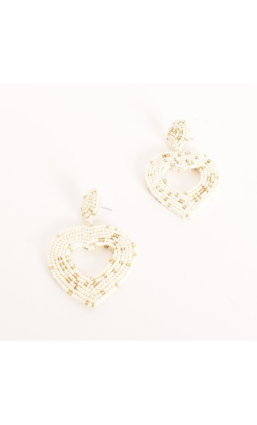 Sweetheart Beaded Earrings