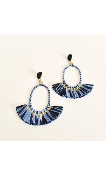 Fringed Raffia Wrap Earrings