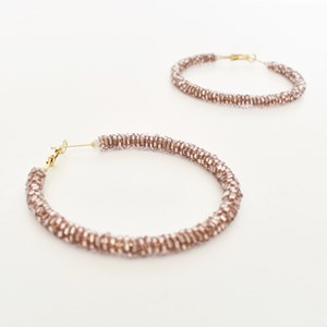 Gina Bead Hoop Earrings
