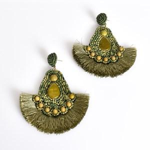 Tessa Beaded Fringe Earrings