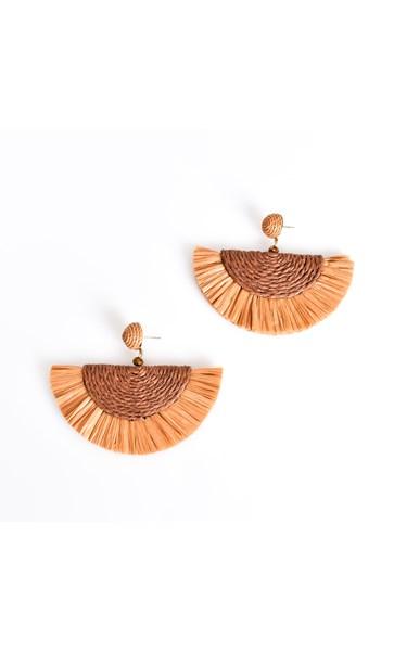 Salma Cord Fringe Earrings