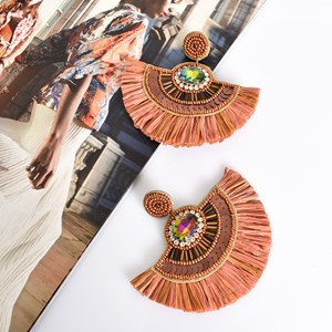 Charli Sequin Bead Fringe Earrings