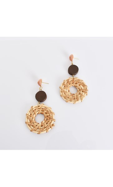 Natural Weave Mix Earrings