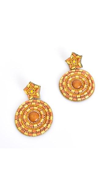 Beaded Star Circles Earrings