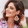 Bella Beaded Fringe Edge Earrings - pr_74963