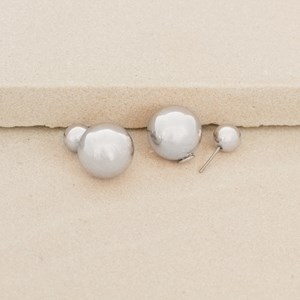 Double Metal Ball Backed Stud Earring