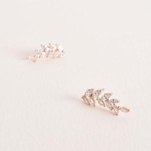 CZ Fine Diamante Vine Drop Earring