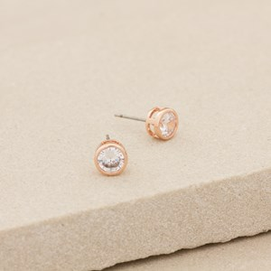 CZ Rubover Diamante Stud Earring