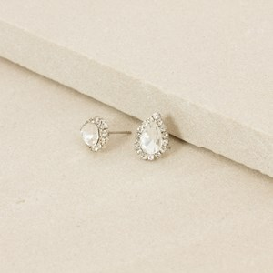 Diamante Jewelled Teardrop Mini Stud Earring