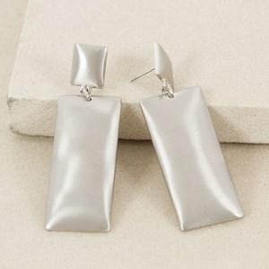 Double Metal Rectangle Drop Earring