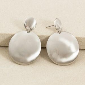Double Metal Oval Drop Earring