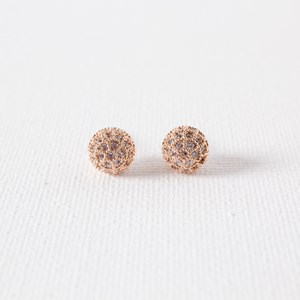 Diamante Covered Ball Stud Earring