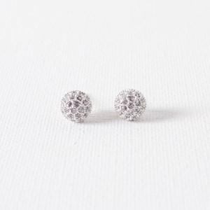 Diamante Covered Ball Stud Earring