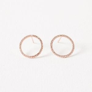 CZ Fine Ring Stud Earring